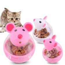 Pet Feeder Cat Toy Mice Food Rolling Leakage Dispenser Bowl Kitten Playing Toys