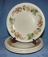 "(4) WEDGWOOD CHINA BREAD & BUTTER PLATES QUINCE FRUIT PATTERN ~ 6 1/4"" ~ ENGLAND"