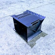 Fire Pit Flat pack 400mm long with hot plate/grill Firepit Portable Heavy Duty
