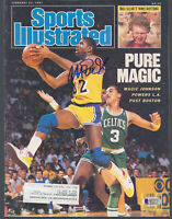 Lakers Magic Johnson Signed February 1987 Sports Illustrated Magazine BAS Wit