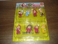 Set of 8 different mini dolls Masha from Masha and the Bear (Маша и Медведь)