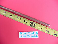 """3/8"""" C110 COPPER ROUND ROD 14"""" long H04 Solid .375"""" OD CU New Lathe Bar Stock"""