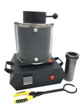 Black 220V 2 KG Electric Melting Furnace Melt Scrap Jewlery Silver Gold Pour