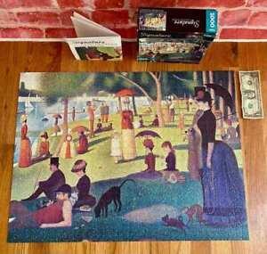 COMPLETE Georges Seurat ~Sunday Afternoon on La Grande Jatte~ 1000 Jigsaw Puzzle
