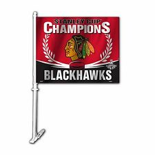 Chicago Blackhawks 2015 Stanley Cup Champions Car Flag
