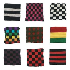 Fabric Wristband / Sweatband Many Designs Checker Rasta Plain