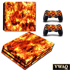 PS4 Pro Decal Flame Skin Sony Playstation 4 Pro Sticker Fire Skin VWAQ-PPGC3