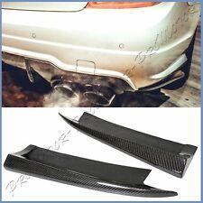 Fit W204 BENZ 12-14 C300 C350 C63 4DR AMG Bumper Carbon Fiber 2PCS Splitter Lips
