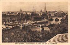 PARIGI - panorama sul Senna pris verso la Torre Eiffel