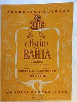 """"""" Maria aus BAHIA """" Samba aus dem Film >Die tolle Miss< von Paul Misraki RAR"""
