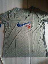 NWT NIKE Dri-Fit NBA New York Knicks Women's gray v-neck t-shirt Size XXL