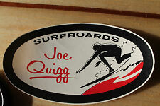 vintage Surfing Joe Quigg Surfboards 1959 Original Laminate Decal RED 3x5in.