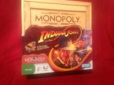 Monopoly Indiana Jones MoviesCollectible Board Game W/ Collectible Tokens New!