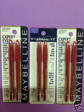 3 X Maybelline Expert Eyes Twin Brow & Eye Pencils ( DARK BROWN ) NEW.