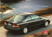 Honda Civic Coupe 1995-97 UK Market Sales Brochure 1.6i LS SR