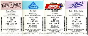 Hollywood Studios & Epcot - 4 Fastpass Tickets With Extinct Attraction Maelstrom