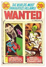Wanted, The World's Most Dangerous Villains #9 VG- (3.5) DC Comic 1973