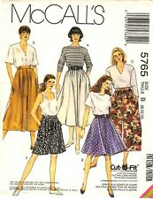 McCall's Sewing Pattern Women's SKIRT & SPLIT-SKIRT CULOTTES 5765 Sz 8-10-12 UC
