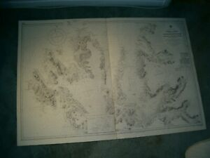 Vintage Admiralty Chart 2551 SCOTLAND - ISLE OF SKYE 1929 edn