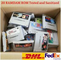 WHOLESALE SNES TESTED 20 ROM Super Famicom RANDOM lot set JAPAN SFC NTSC-J