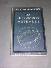 Abbé Moreux astrologie les influences astrales Doin 1942