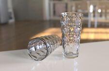 QG 22 fl oz. Diamond Cut Pattern Clear Acrylic Plastic Glass Tumbler Set of 8