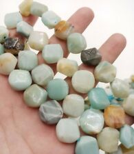 Natural 14mm Coin Amazonite Gemstone Loose Beads 15''
