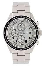 Gigandet Racetrack Herrenuhr Chronograph Datum Edelstahlarmband Silber G24-003