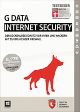 G DATA Internet Security 1 PC 2016 Vollversion GDATA Upgrade 2015 - keine CD