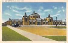 Akron Ohio Airport Terminal Street View Antique Postcard K29516