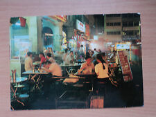 Malaysia Postcard - An Evening Open-Air Restaurant scene. Postmarked 1991