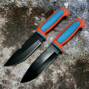"""Drop Point Knife Fixed Blade Hunting Jungle Survival Tactical Combat Military 5"""""""