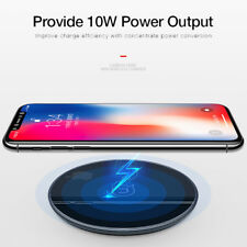 Qi Fast Wireless Charger Charging Pad For Samsung S9/8+ Note 8 iPhone X 8 Plus