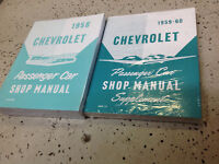 1958 Chevy Chevrolet CAR Service Shop Repair Shop Workshop Manual Set W Suppleme