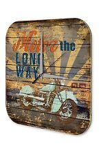 Orologio da parete  Moto Garage  Marke Moto motore dicendo che la strada più lun