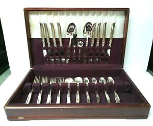 Vintage 52 pcs 1955 Community Plate Oneida South Seas Silverplate Flatware Set