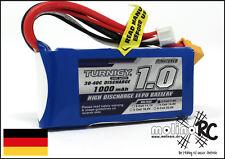 1x Turnigy 1000mAh 2S 30C XT60 POWER Lipo Akku 7,4V