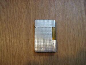 S.T Dupont Feuerzeug Lighter Silber Gatsby Linie 2 Brennt/Funktioniert