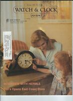 MF-107 - Watch & Clock Review Magazine, January 1990, Hermle, Ted's Clock Emporm
