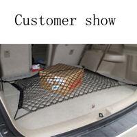 Car SUV Rear Trunk Boot Floor Cargo Net Elastic Mesh Storage Fixed Set 120*58cm