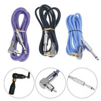 1X 90° Silicone Tattoo Power Clip Cord Wire Cable For Machine Gun Kit Set SuppTR