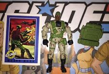 Heavy Duty 2002 Hasbro GI Joe Action Figure, Card, Case, & Accessories Lot A