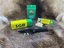 "Puma SGB 4 1/4"" Pounce Tactical Knife With Black Handles Plain Blade -  Mint Box"