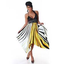 Markenlose knielange Damenkleider mit Neckholder-Ausschnitt