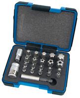 "DRAPER Expert 23 Piece 1/4, 3/8"" Sq. Dr. DRAPER Tx-Star Plus Bit Set - 23241"