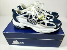 Riddell Men Athletic Walking Tennis Shoes Ideal II Size 10 White Blue Silver New