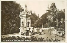 More details for real photo ipswitch fountain in arboretum1929