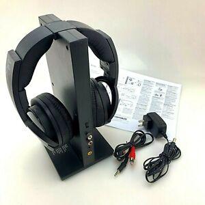 SONY MDR-RF985R Wireless Headphones w/ Transmitter Base TMR-RF985R   Working