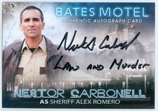"NESTOR CARBONELL ""ROMERO LAW AND MURDER AUTOGRAPH"" BATES MOTEL SEASON 1"