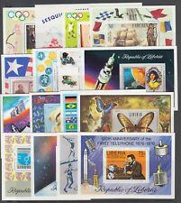 Liberia Sc Sc C190//C212 MNH. 1971-1976 issues, 16 diff Air Mail Souvenir Sheets